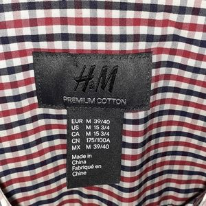H & M short sleeve button up